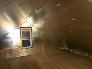 A Hightstown attic with SuperAttic installed.