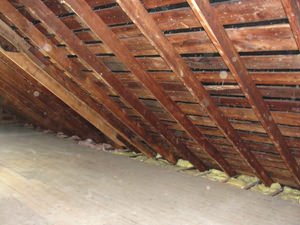 A New Jersey, New York, and Pennsylvania attic before installation of SuperAttic