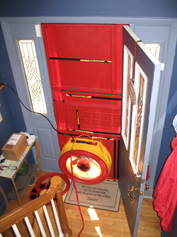 Blower door test for New Brunswick homes