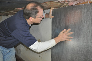 Winterizing crawl space with foam insulation
