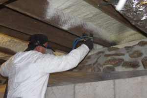 Spray Foam in the crawl space in Old Bridge
